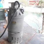 安居用水路仮設揚水機設置工事